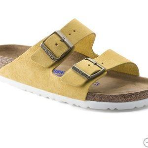 Birkenstock Arizona Soft Footbed yellow sandal